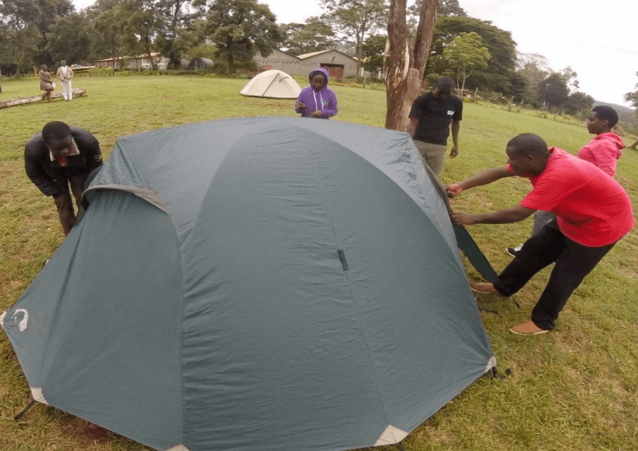 Simulated camping and back packing
